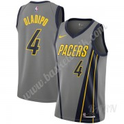 Barn NBA Tröja Indiana Pacers 2019-20 Victor Oladipo 4# grå City Edition Swingman..